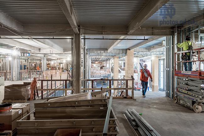 March 8, 2017; Duncan Student Center 2nd floor under construction (Photo by Matt Cashore/University of Notre Dame)