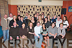 21ST: Mike Hartnett of Ballyheigue (seated centre) with his family and friends as he celebrated his 21st birthday at the White Sands Hotel, Ballyheigue, on Saturday night. Also helping Mike to celebrate were his mother Patricia Hartnett and Sabina Egan, his girlfriend..