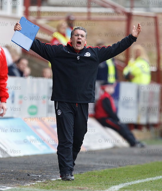 Partick boss Ian McCall not happy