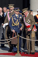 Prince Felipe of Spain and King Juan Carlos of Spain attend the traditional 'Pascua Militar' ceremony at The Royal Palace. January 06, 2013. (ALTERPHOTOS/Caro Marin)