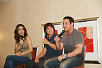 Lisa LoCiero - Dominic Zamprogna - Tyler Christopher - General Hospital actors came to Uncle Vinny's/Ferraras at the Crown Plaza in Trevose, Pennsylvania on April 22, 2010 to see fans with a q & a and autographs and taking of photos. (Photo by Sue Coflin/Max Photos0