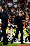 Head Coach Diego Simeone of Atletico de Madrid reacts during their La Liga  2018-19 match between Real Madrid CF and Atletico de Madrid at Santiago Bernabeu on September 29 2018 in Madrid, Spain. Photo by Diego Souto / Power Sport Images