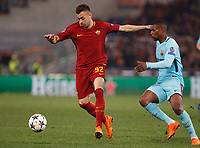 Roma s Stephan El Shaarawy is challenged by FC Barcelona Nelson Semedo during the Uefa Champions League quarter final second leg football match between AS Roma and FC Barcelona at Rome's Olympic stadium, April 10, 2018.<br /> UPDATE IMAGES PRESS/Riccardo De Luca