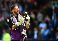 Sheffield Wednesday's Keiren Westwood applauds the fans at the end of the match<br /> <br /> Photographer Andrew Vaughan/CameraSport<br /> <br /> The EFL Sky Bet Championship Play-Off Semi Final First Leg - Huddersfield Town v Sheffield Wednesday - Saturday 13th May 2017 - The John Smith's Stadium - Huddersfield<br /> <br /> World Copyright &copy; 2017 CameraSport. All rights reserved. 43 Linden Ave. Countesthorpe. Leicester. England. LE8 5PG - Tel: +44 (0) 116 277 4147 - admin@camerasport.com - www.camerasport.com