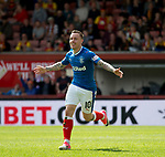 Barrie McKay celebrates his goal for Rangers
