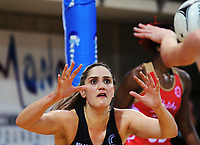Te Paea Selby-Rickit calls for the ball during the Taini Jamieson Trophy Series netball match between the New Zealand Silver Ferns and England Roses at Te Rauparaha Arena in Porirua, New Zealand on Wednesday, 7 September 2017. Photo: Dave Lintott / lintottphoto.co.nz