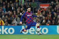 7th March 2020; Camp Nou, Barcelona, Catalonia, Spain; La Liga Football, Barcelona versus Real Sociedad;  Leo Messi controls the pass as he speeds into attack