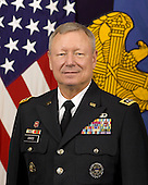 United States Army General Frank J. Grass serves as the 27th Chief, National Guard Bureau and as a member of the Joint Chiefs of Staff. In this capacity, he serves as a military adviser to the President, Secretary of Defense, National Security Council and is the Department of Defense's official channel of communication to the Governors and State Adjutants General on all matters pertaining to the National Guard. He is responsible for ensuring that the more than 470,000 Army and Air National Guard personnel are accessible, capable and ready to protect the homeland and to provide combat resources to the Army and Air Force. Prior to his current assignment, General Grass served as Deputy Commander, United States Northern Command and Vice Commander, United States Element, North American Aerospace Defense Command (USELEMNORAD) at Peterson Air Force Base, Colorado. As Deputy Commander, United States Northern Command, General Grass helped lead the command to anticipate, prepare and respond to threats and aggression aimed at the United States, its territories and interests within the assigned area of responsibility and as directed by the President or Secretary of Defense, provide Defense Support of Civil Authorities, including consequence management operations. General Grass enlisted in the Missouri Army National Guard in October 1969. He attended the Missouri Army National Guard Military Academy Officer Candidate School and was commissioned in the Engineer Corps in 1981. He has served in a variety of command and staff positions as a traditional National Guard Soldier, in the Active Guard and Reserve program, and on active duty. In his first general officer assignment, he served as Deputy Director of the Army National Guard in Arlington, Virginia.<br /> Mandatory Credit: Monica A. King / DoD via CNP