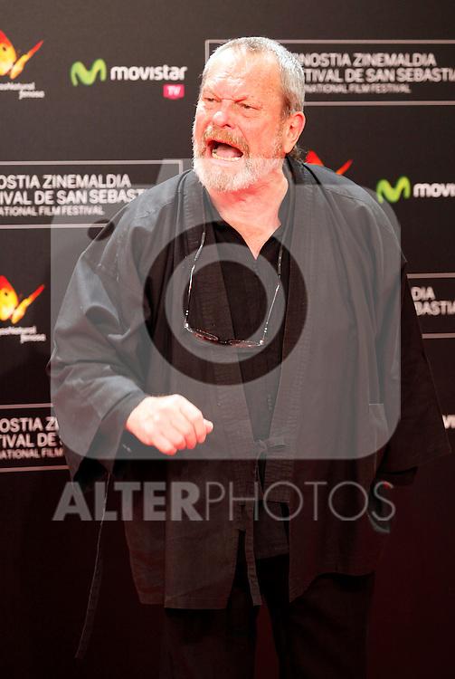 Terry Gilliam posses in the photocall of the 61 San Sebastian Film Festival, in San Sebastian, Spain. September 20, 2013. (ALTERPHOTOS/Victor Blanco)