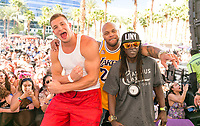 LAS VEGAS, NV - APRIL 29: Rob Gronkowski on stage with Flo Rida and Flavor at Rehab at The Hard Rock Hotel & Casino in Las Vegas, Nevada on April 29, 2017. Credit: GDP Photos/MediaPunch
