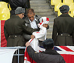 An England fan has trouble with the police in the Luznikhi Stadium, Moscow<br /> <br /> Euro 2008 Qualifier<br /> Russia v England<br /> 17th October 2007<br /> --------------------<br /> Sportimage +44 7980659747<br /> admin@sportimage.co.uk<br /> http://www.sportimage.co.uk/