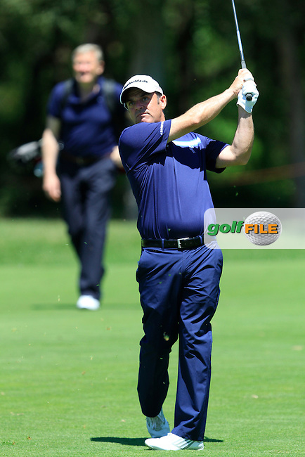 Paul McGinley (IRL) on the 17th during the Pro-Am in The Open De Espana at The PGA Catalunya Resort on Wednesday 14th May 2014.<br /> Picture:  Thos Caffrey / www.golffile.ie