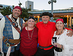 Greg, Kristina, Mark and Sherri during the Pirate Crawl in downtown Reno on Saturday, August 17, 2019.