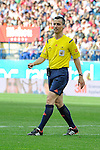 Referee Jaime Latre during 2014-15 La Liga match between Atletico de Madrid and Athletic Club at Vicente Calderon stadium in Madrid, Spain. May 02, 2015. (ALTERPHOTOS/Luis Fernandez)