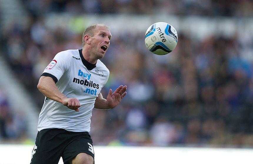 Derby County's Gareth Roberts ..Football - npower Football League Championship - Derby County v Burnley - Saturday 22nd September 2012 - Pride Park - Derby..