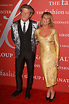 Designer Nick Graham, and Elizabeth Gaynes arrives at The Fashion Group International's Night of Stars 2017 gala at Cipriani Wall Street on October 26, 2017.