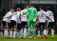 Fulham's players before the Sky Bet Championship match between Fulham and Queens Park Rangers at Craven Cottage, London, England on 17 March 2018. Photo by Andrew Aleksiejczuk / PRiME Media Images.
