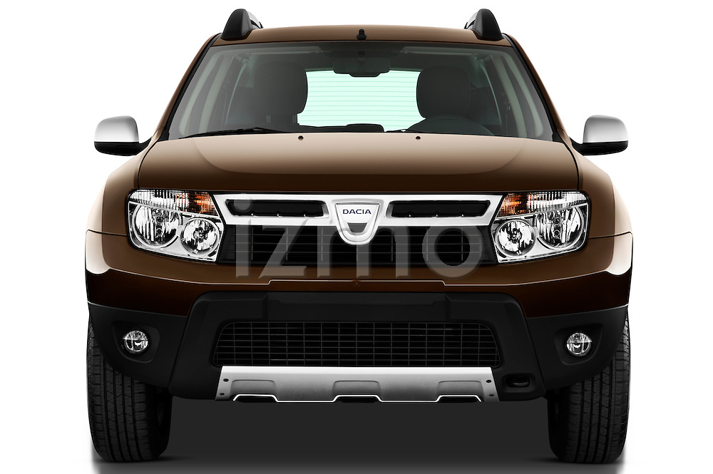 Straight front view of a 2010 Dacia Duster 4 Door SUV