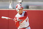 MADISON, WI - APRIL 16: Letty Olivarez #12 of the Wisconsin Badgers softball team bats against the Indiana Hoosiers at Goodman Diamond on April 16, 2007 in Madison, Wisconsin. (Photo by David Stluka)