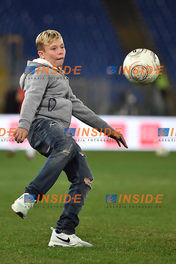Christian Totti son of Francesco <br /> Roma 12-10-2016 Stadio Olimpico <br /> Incontro di calcio benefico Uniti per la Pace <br /> Charity football match United for Peace . Foto Andrea Staccioli / Insidefoto