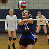 Madison Gale #14 of Kellenberg makes a set during the Nassau-Suffolk CHSAA varsity girls volleyball championship against Sacred Heart at St. Dominic High School in Oyster Bay on Tuesday, Nov. 7, 2017.