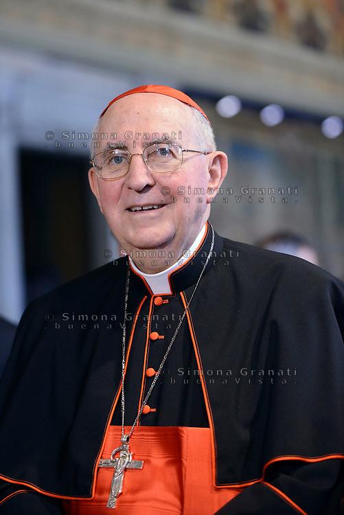 Roma,10 Giugno 2017<br /> Cardinale Agostino Vallini<br /> Papa Francesco in visita al Quirinale