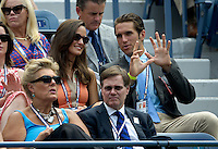 NEW YORK, NY- September 4, 2012: Pippa Middleton (Top-C) and Spencer Vegosen (Top-R) attend Day 9 of the 2012 U.S. Open Tennis Championships at the USTA Billie Jean King National Tennis Center in Flushing, Queens, New York. September 4, 2012. © MPI105/MediaPunch Inc. /NortePhoto.com<br /> <br /> **CREDITO*OBLIGATORIO** <br /> *No*Venta*A*Terceros*<br /> *No*Sale*So*third*<br /> *** No*Se*Permite*Hacer*Archivo**<br /> *No*Sale*So*third*