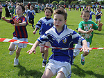 Darragh McDonnell wins the under 8 race at Naomh Mairtin sports day. Photo: Colin Bell/pressphotos.ie