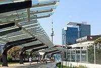 Sousa-Mendes-Promenade und UNO-City, Wien, &Ouml;sterreich<br /> Sousa Mendez Promenade and UNO-City, Vienna, Austria