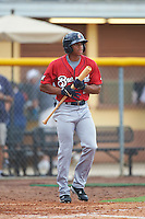 Brevard County Manatees center fielder Corey Ray (2) at bat during a game against the Lakeland Flying Tigers on August 8, 2016 at Henley Field in Lakeland, Florida.  Lakeland defeated Brevard County 6-2.  (Mike Janes/Four Seam Images)
