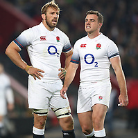 Chris Robshaw of England with George Ford of England during the 2018 Castle Lager Incoming Series 1st Test match between South Africa and England at Emirates Airline Park,<br /> Johannesburg.South Africa. 09,06,2018 Photo by (Steve Haag Sports)
