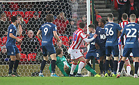 Blackburn Rovers Corry Evans deflects the ball for a own goal<br /> <br /> Photographer Mick Walker/CameraSport<br /> <br /> The EFL Sky Bet Championship - Stoke City v Blackburn Rovers - Saturday 30th November 2019 - bet365 Stadium - Stoke-on-Trent<br /> <br /> World Copyright © 2019 CameraSport. All rights reserved. 43 Linden Ave. Countesthorpe. Leicester. England. LE8 5PG - Tel: +44 (0) 116 277 4147 - admin@camerasport.com - www.camerasport.com