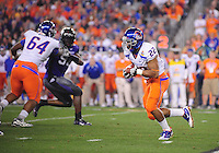 Jan. 4, 2010; Glendale, AZ, USA; Boise State Broncos running back (22) Doug Martin against the TCU Horned Frogs in the 2010 Fiesta Bowl at University of Phoenix Stadium. Boise State defeated TCU 17-10. Mandatory Credit: Mark J. Rebilas-