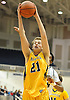 Bryce Paladino #21 of Massapequa secures a rebound during the Nassau County varsity boys basketball Class AA semifinals against Baldwin at Hofstra University on Tuesday, Feb. 23, 2016. Top-seeded Baldwin had a 23-21 lead at halftime.