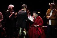 Los Angeles, CA - NOV 07:  Graham Nash, Charles Valentino, Joni Mitchell, and Sauchuen perform at 'Joni 75: A Birthday Celebration Live At The Dorothy Chandler Pavilion' on November 07 2018 in Los Angeles CA. Credit: CraSH/imageSPACE/MediaPunch
