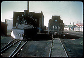 Front view of #484 K-36 with plow on pilot. Rear view of #486 K-36.  In north end Chama yards.<br /> D&amp;RGW  Chama, NM