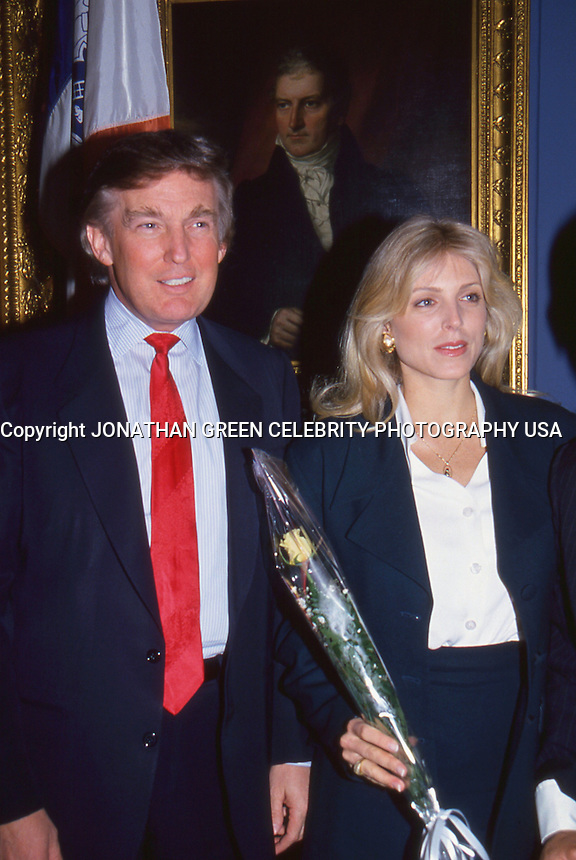 Donald Trump &amp; Marla Maples by <br /> Jonathan Green <br /> at city hall NYC to sign marriage license.