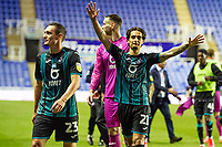 Yan Dhanda of Swansea City celebrates at full time during the Sky Bet Championship match between Reading and Swansea City at the Madejski Stadium in Reading, England, UK. Wednesday 22 July 2020.