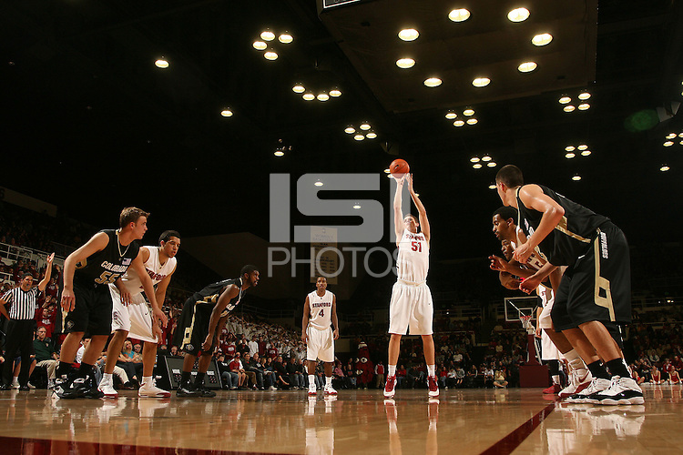 Stanford, CA - NOVEMBER 29:  Forward Elliott Bullock #51 of the Stanford Cardinal during Stanford's 76-62 win against the Colorado Buffaloes in the Big 12/Pac-10 Hardwood Series on November 29, 2008 at Maples Pavilion in Stanford, California.