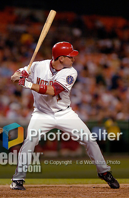 14 June 2006: Ryan Zimmerman, third baseman for the Washington Nationals, in action against the Colorado Rockies in Washington, DC. The Rockies defeated the Nationals 14-8 in front of 24,273 fans at RFK Stadium...Mandatory Photo Credit: Ed Wolfstein Photo.