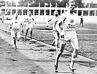 August-September 1920, Olympic Stadium, Antwerp, Belgium;   800 metres winner, Albert Hill Great Britain; A total of 29 nations participated in the Antwerp Games, only one more than in 1912, as Germany, Austria, Hungary, Bulgaria and Ottoman Empire were not invited, having lost World War I.