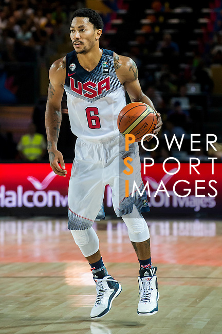 Derrick Rose of United States of America looks on during FIBA Basketball World Cup 2014 group C between United States of America vs New Zeland  on September 02, 2014 at the Bilbao Arena stadium in Bilbao, Spain. Photo by Nacho Cubero / Power Sport Images