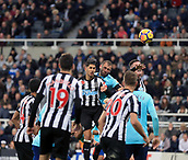4th November 2017, St James Park, Newcastle upon Tyne, England; EPL Premier League football, Newcastle United Bournemouth; Steve Cook of AFC Bournemouth powers in the 92nd minute header that won the match 0-1