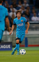 Barcellona's Sergi Roberto during the Champions League Group E soccer match against AS Roma  at the Olympic Stadium in Rome September 16, 2015