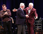 Rob Berman, Walter Bobbie, Steve Martin on stage during 'Bright Star' In Concert at Town Hall on December 12, 2016 in New York City.