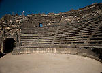 West Theatre made of basalt in Um Qais used as a cultural center seating 3,000 people