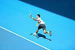 Novak Djokovic (SRB) wins at Australian Open in Melbourne Australia on 17th January 2013