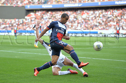 31.08.2013. Paris, France. French League football. Paris St Germain versus Guingamp Aug 31st.  Lucas (psg)