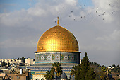 Very high resolution late afternoon view of the Dome of the Rock, an Islamic shrine located on the Temple Mount in the Old City of Jerusalem on Thursday, November 2, 2017.<br /> Credit: Ron Sachs / CNP