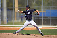 New York Yankees Cody Carroll (28) during a minor league Spring Training game against the Toronto Blue Jays on March 22, 2016 at Englebert Complex in Dunedin, Florida.  (Mike Janes/Four Seam Images)